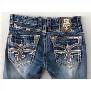 Rock Revival Jeans - ROCK REVIVAL JOSEPH STRAIGHT LEG JEANS 32  / 30